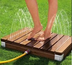 perfect before entering your pool Piscina Diy, Above Ground Pool Decks, In Ground Pools, Outdoor Pool, Outdoor Gardens, Pool Deck Plans, Backyard Pool Landscaping, Outdoor Bathrooms, Diy Pool