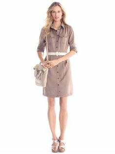 A simple shirtdress for spring.