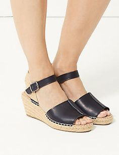 Wide Fit Leather Wedge Heel Espadrilles Heeled Espadrilles, Holiday Shoes, Leather Wedges, Wedge Heels, Clogs, Sandals, Fit, How To Wear, Fashion