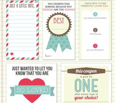 Little Mom on the Prairie : FREE printable Lunchbox Notes