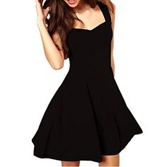 Misaky Sexy Women Casual Sleeveless Party Short Mini Dress Asian XL Black >>> Check out this great product.Note:It is affiliate link to Amazon.