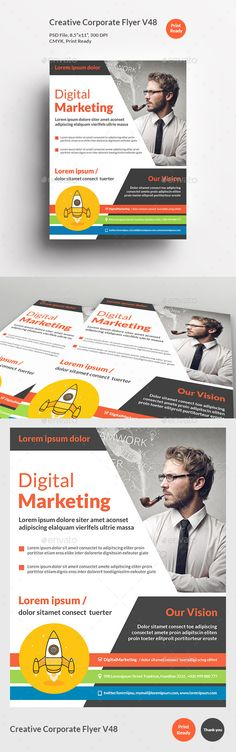 Creative Marketing Flyer V By Khidd On Creative Market  Khidd