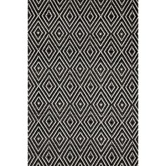 Hand Woven Black Indoor Outdoor Area Rug