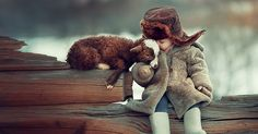 Children And Animals Cuddle In Cute Photoshoots By Russian Photographer Elena Karneeva | Bored Panda