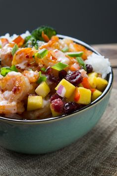 Sweet Fire Shrimp Bowl.  I'm betting it would taste good with chicken or even with just the veggies.
