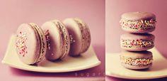 beautiful violet macarons