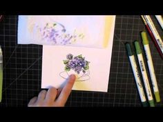 ▶ Watercolor with Tim Holtz Distress Markers VIDEO TUTORIAL. - YouTube