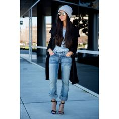 How to Wear a Beanie Winter Essential ❤ liked on Polyvore featuring accessories, hats and beanie hats