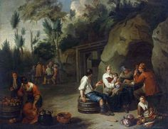 Peasant Family sitting at Table by Norbert van Bloemen