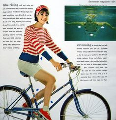 Colleen Corby modeled looks for casual and carefree summer days and for pretty and feminine summer nights in the June 1964 Seventeen magazine. Seventies Fashion, 1960s Fashion, 60s Vintage Clothing, Vintage Outfits, Colleen Corby, Sporty Style, 60s Style, Sailor Fashion, Seventeen Magazine