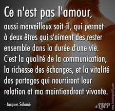 Citation La qualité de la communication dans une relation amoureuse Best Quotes, Love Quotes, Inspirational Quotes, Citations Regrets, Communication, Tu Me Manques, Morning Greetings Quotes, Quote Citation, French Quotes