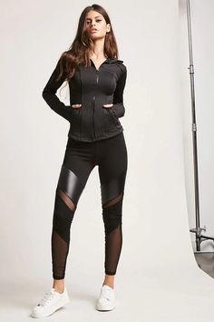 Product Name:Active Mesh-Insert Leggings, Category:CLEARANCE_ZERO, Price:45