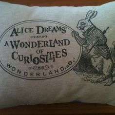 Gorgeous Alice in wonderland cushion by coco & milo