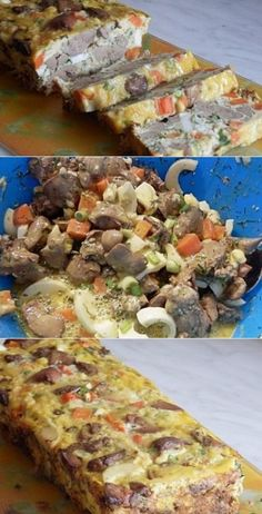 Chicken liver casserole melts in your mouth - taste it - taste good Quiche Recipes, Meat Recipes, Chicken Recipes, Cooking Recipes, Healthy Recipes, Carne, 70s Food, Russian Recipes, Love Food