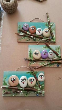 18 Creative Ideas for Painted Pebble and River Stone Crafts 18 kreative Ideen Kids Crafts, Creative Crafts, Diy And Crafts, Arts And Crafts, Creative Ideas For Art, Elderly Crafts, Crafts For Kids To Make, Easy Crafts, How To Make