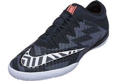 Nike MercurialX Finale Street Indoor Shoes - Black and Hot Lava