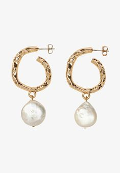 HALLHUBER Boucles d'oreilles - gold-coloured - ZALANDO.CH Gold Gold, Pearl Earrings, Pearls, Material, Color, Jewelry, Products, Fashion, Jewelry Ideas