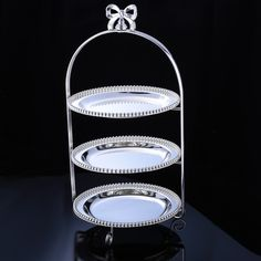 Wholesale 3102 European style three layers cake stand, baking tools, for afternoon tea, wedding centerpiece