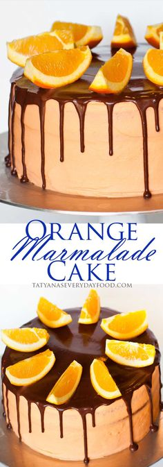 Orange Marmalade Cake with Chocolate Ganache - video recipe by Tatyana's Everyday Food