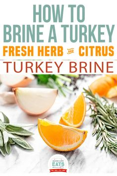This Fresh Herb and Citrus Turkey Brine combines lots of fresh herbs with a subtle hint of citrus. Brining your turkey in this citrus brine will tenderize the meat and infuse it with a TON of flavor for Turkey Day! This fresh herb and citrus turkey brine infuses roasted turkey with so much flavor and helps keep the meat moist. It's a must have for me when I'm hosting Thanksgiving. | Good Life Eats @goodlifeeats #turkeybrine #easyturkeybrine #howtobrineaturkey #thanksgivingrecipes #go Thanksgiving Drinks, Hosting Thanksgiving, Good Healthy Recipes, Delicious Recipes, Vegan Recipes, Tasty, Easy Turkey Brine, Holiday Recipes, Winter Recipes