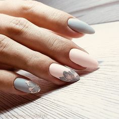 inch NAILS FRENCH grey and pink matte finish with contrasting florals. Now😚😚😚 Nails, nail art designs, nail designs, nail art, nail designs acrylic Spring Nail Art, Spring Nails, Matte Nails, Stiletto Nails, French Nails, Gorgeous Nails, Pretty Nails, Hair And Nails, My Nails