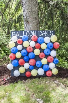 A Carnival Themed Birthday Party: Balloon Darts Game