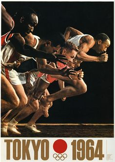 Tokyo Olympics. 1964. Yusaku Kamekura. Add Around The Rings on www.Twitter.com/AroundTheRings & www.Facebook.com/AroundTheRings for the latest info on the Olympics.
