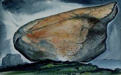 David Blackwood watercolour, Glacier Erratic #4, 1981, 11 X 18 inches