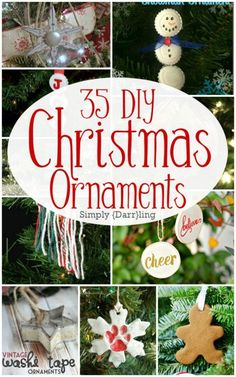Make some holiday cheer this year with these 35 DIY Christmas ornaments. So many amazing ideas! Perfect for decorating your own tree or giving as gifts.
