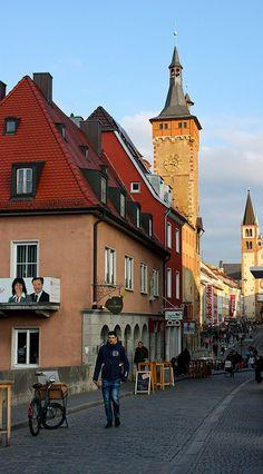 Wurzburg, Germany - entrance to Saints Bridge