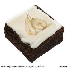 Pears - My Sweet And Perfect Half Chocolate Brownie