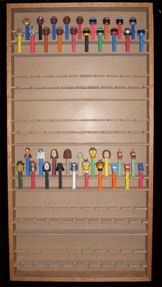 Pez Dispenser Display Case -- For Z's collection