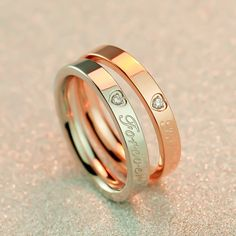 Gold Platimun Plated Ring for Couples - BestBuys_Online Price: $30.99 Item Type: Rings Fine or Fashion: Fashion Rings Type: Wedding Bands Style: Romantic Gender: lovers' Setting Type: Bezel Setting Material: Cubic Zirconia Occasion: Wedding Metals Type: Stainless Steel Shape\pattern: Round #couplerings #rings #loverings #beautifulrings