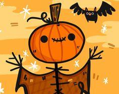 Drawlloween Scarecrow Illustration for Halloween Lovers | Halloween Art | Halloween Illustration