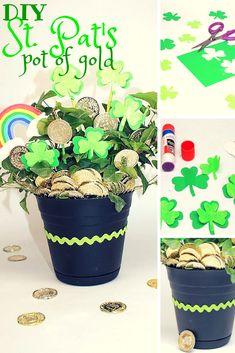 St. Patrick's Day DIY pot of gold plant