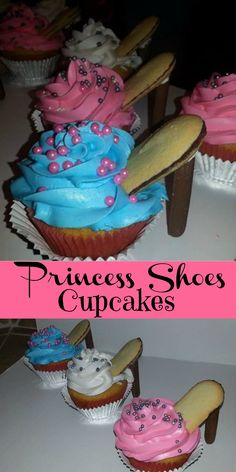 Princess Shoes Cupcakes We had so much fun making these Princess Shoes Cupcakes. There are so many versions of these cupcakes on the internet and we have been seeing different versions of them EVER...