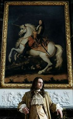 George Blagden as the Sun King Louis XIV in the hit canal+ series Versailles