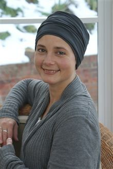 Classic turban for womens hair loss.  Chic and smart chemo headwear to return back to work.  This style can also be worn with cancer scarves for colour and volume.