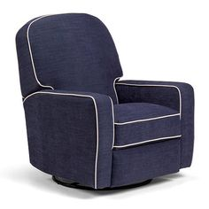 Best Chairs Kersey Upholstered Swivel Glider Recliner
