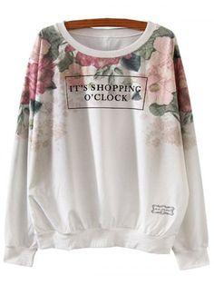 SHARE & Get it FREE   Letter Print Loose SweatshirtFor Fashion Lovers…