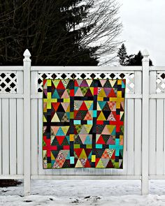 Chicopee Triangle & Colorblock Quilt. love the sashing