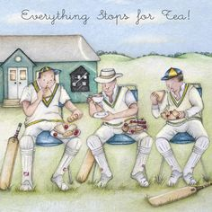 """Cards """" Everything Stops for Tea """" - Berni Parker Designs ღ✟ Birthday Cards For Men, Funny Birthday Cards, Man Birthday, Birthday Messages, Personalised Gift Shop, Friend Crafts, Vides, Art Impressions, Beautiful Drawings"""