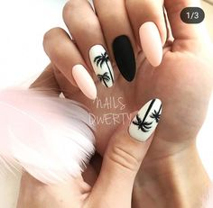 """If you're unfamiliar with nail trends and you hear the words """"coffin nails,"""" what comes to mind? It's not nails with coffins drawn on them. It's long nails with a square tip, and the look has. Cute Summer Nail Designs, Cute Summer Nails, Fun Nails, Pink Summer, Nail Summer, Style Summer, Summer Nails 2018, Smart Nails, Summer Design"""