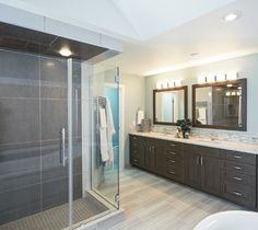 Cool Blue Ensuite Bathroom Renovation By Centennial In - Bathroom remodeling centennial