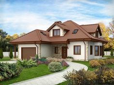 Although most homeowners will spend more time inside of their home than outside admiring the exterior, there is still something to be said for curb appeal. Small Rustic House, Modern Rustic Homes, Small House Design, Bungalow Haus Design, Modern Bungalow House, House Paint Exterior, Dream House Exterior, Home Building Design, Building A House