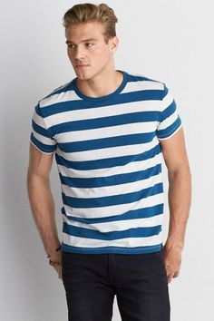 """""""American Eagle Outfitters"""" """"AE Seriously Soft Stripe Crew T-Shirt"""""""