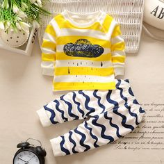 Winter baby Clothes 2PCS Cotton newborn Winter baby boy baby girl clothes set soft underwear baby girls pajamas on Aliexpress.com | Alibaba Group