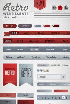 retro-web-elements-red