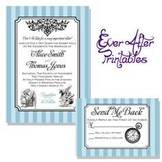 Vintage Alice in Wonderland Wedding by EverAfterPrintables on Etsy, $20.00