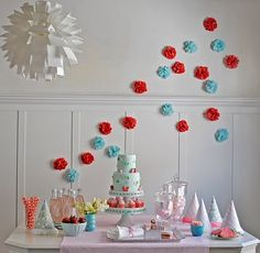 Strawberry party theme! Adorable!!!